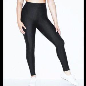 American Apparel faux leather embossed leggings
